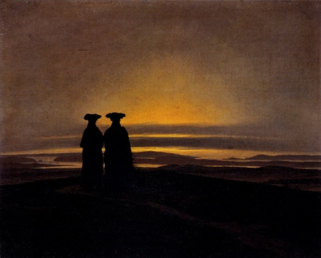caspar_david_friedrich_sunset_1835